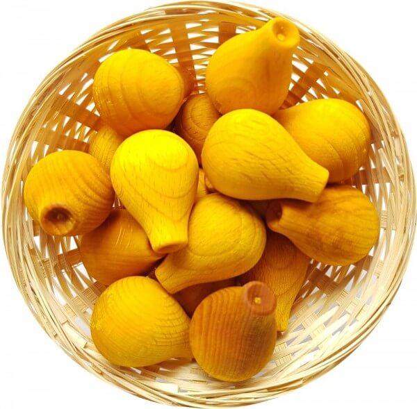 5x Papaya Duftholz zur Lufterfrischung und Raumbeduftung - Dufthölzer - Duftfrüchte - Duftkugel