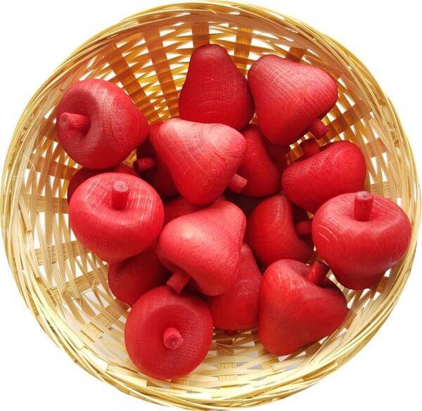 5x Erdbeere Duftholz zur Lufterfrischung und Raumbeduftung - Dufthölzer - Duftfrüchte - Duftkugel