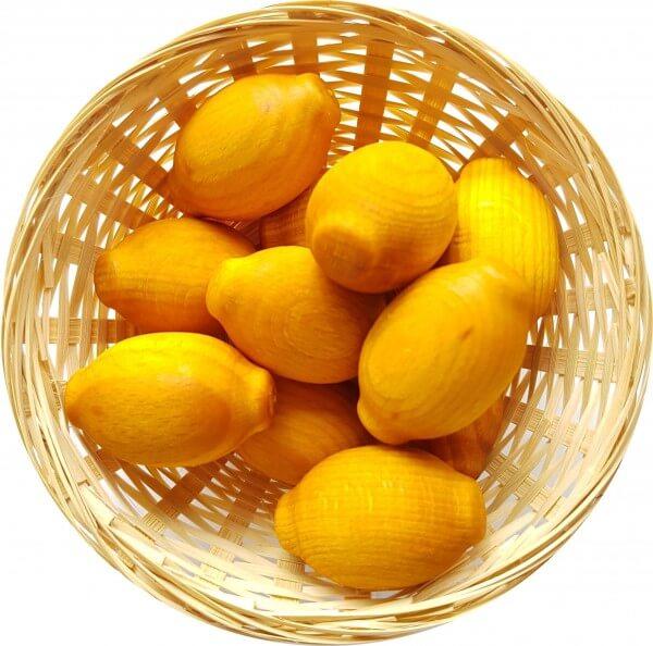 10x Zitrone Duftholz zur Lufterfrischung und Raumbeduftung - Dufthölzer - Duftfrüchte - Duftkugel