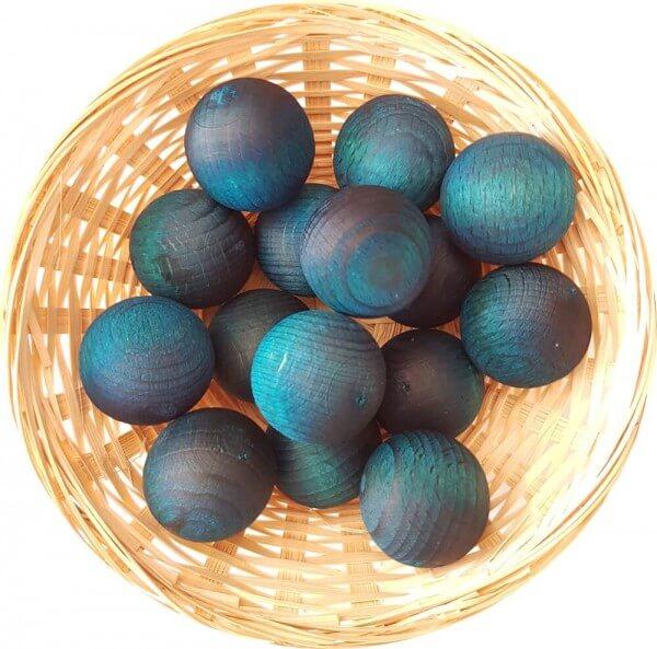 25x Blaubeer Muffin Duftholz zur Lufterfrischung und Raumbeduftung - Dufthölzer - Duftkugel