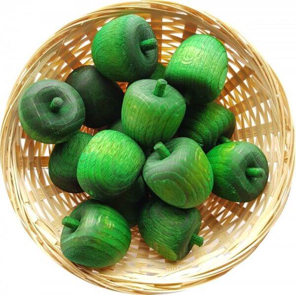 25x Grüner Apfel Duftholz zur Lufterfrischung und Raumbeduftung - Dufthölzer - Duftfrüchte - Duftkugel