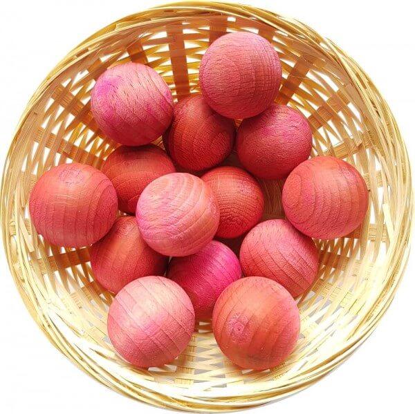 25x Rose Duftholz zur Lufterfrischung und Raumbeduftung - Dufthölzer - Duftfrüchte - Duftkugel