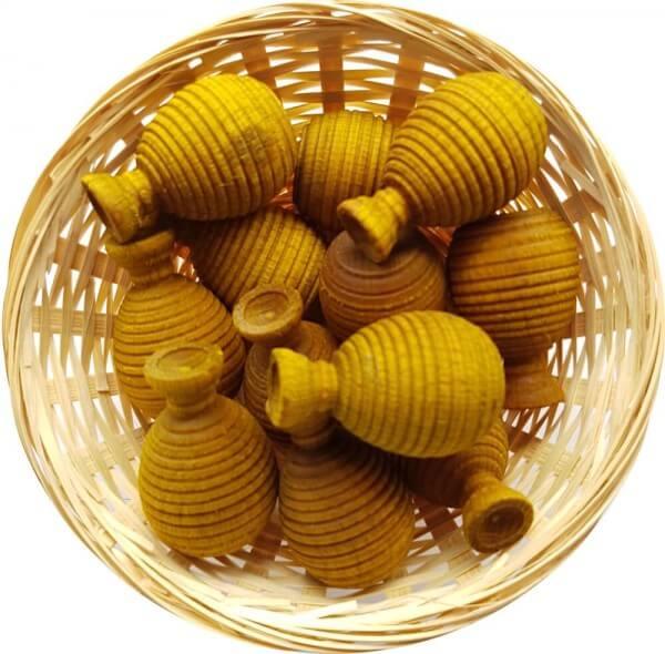 5x Ananas Duftholz zur Lufterfrischung und Raumbeduftung - Dufthölzer - Duftfrüchte - Duftkugel