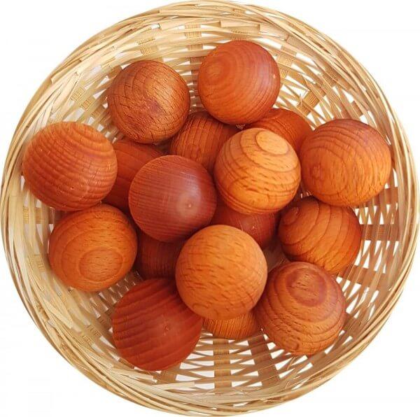 5x Duftholz Orangen-Blüte - Orangenblüte zur Lufterfrischung und Raumbeduftung - Dufthölzer - Duftfrüchte - Duftkugel